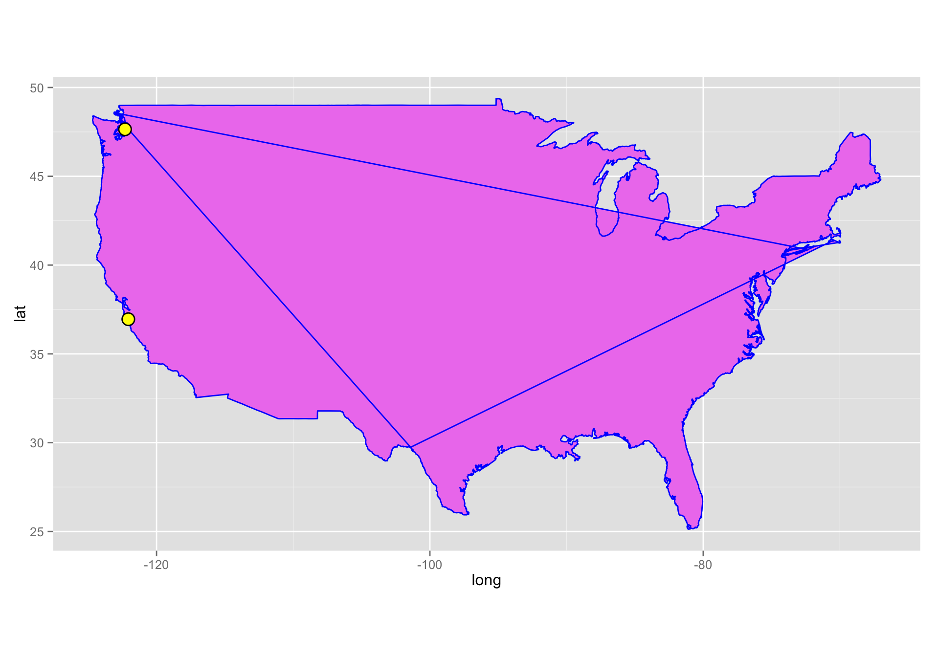 Making Maps With R  Reproducible Research - Los angeles map latitude longitude